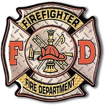 "FD FIRE DEPARTMENT 2/"" EPOXY CAR EMBLEM STICKER NEW"