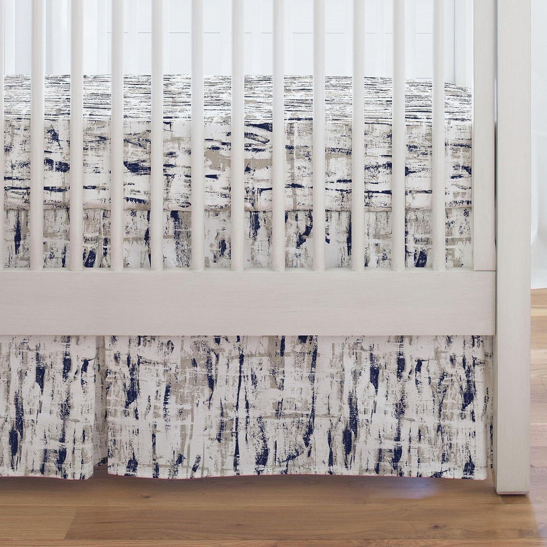 Carousel Designs Aubergine and Seafoam Aqua Birch Crib Skirt Single-Pleat 17-Inch Length Made in The USA Organic 100/% Cotton Crib Skirt