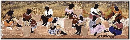 Basket Weavers by Garner Lewis, 14×47-Inch Canvas Wall Art