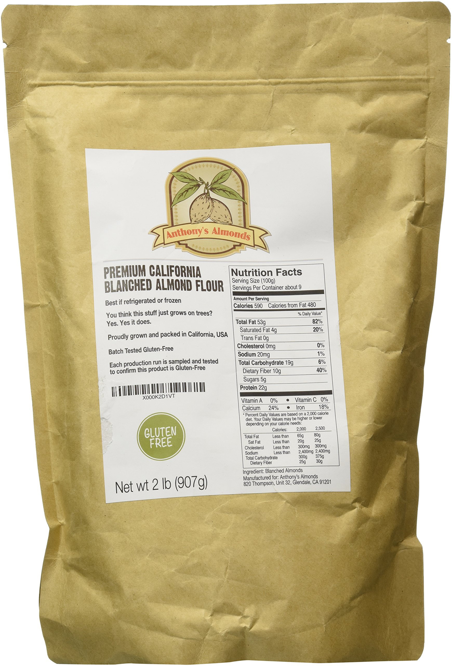 Almond Flour Blanched (2lb) by Anthony's, Batch Tested Gluten-Free by Anthony's (Image #2)