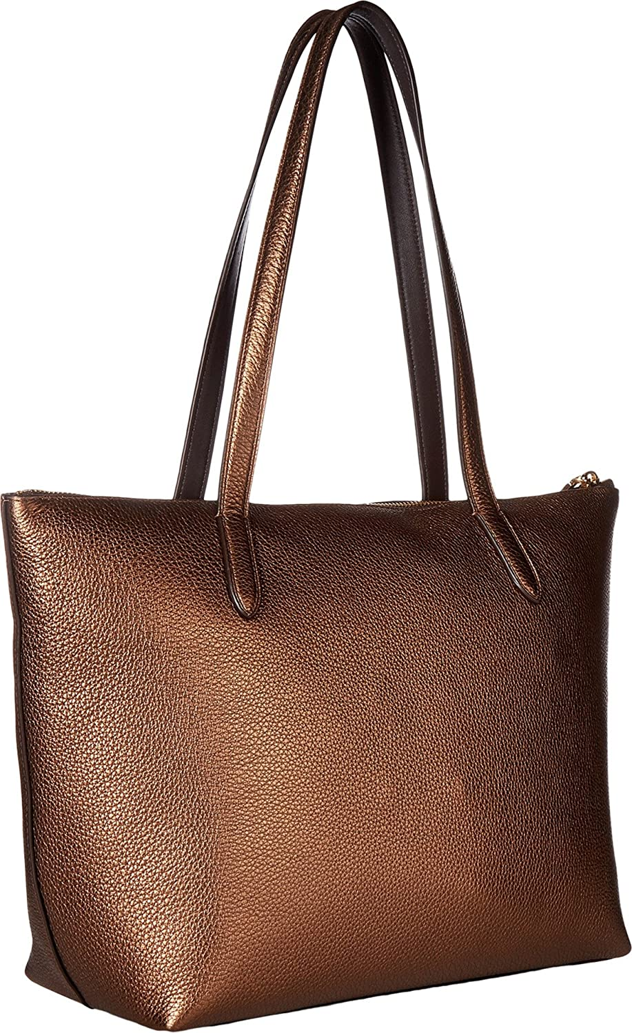 241938fcbb6 COACH Women s Taylor Tote in Metallic Leather Li Bronze One Size   Amazon.ca  Shoes   Handbags