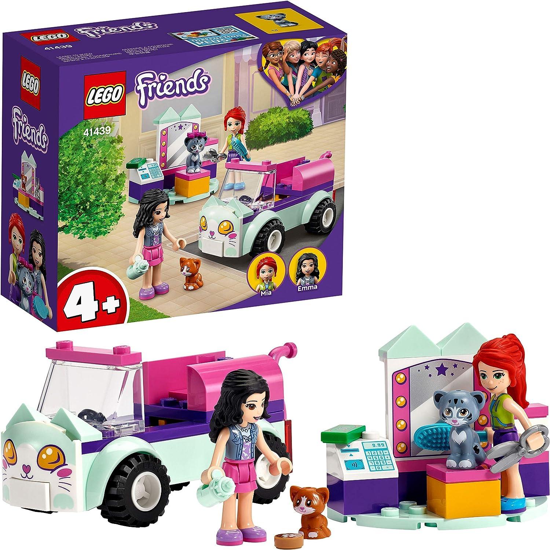 LEGO Friends 41439 Peluquería Felina Móvil Coche de Juguete para Niños y Niñas de a Partir de 4 años con Gatitos y Mini Muñecas