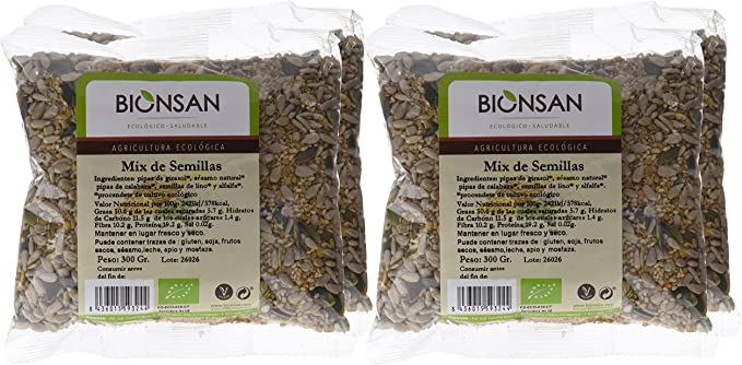 Bionsan Mix de Semillas Ecológicas de Girasol, Calabaza, Lino ...