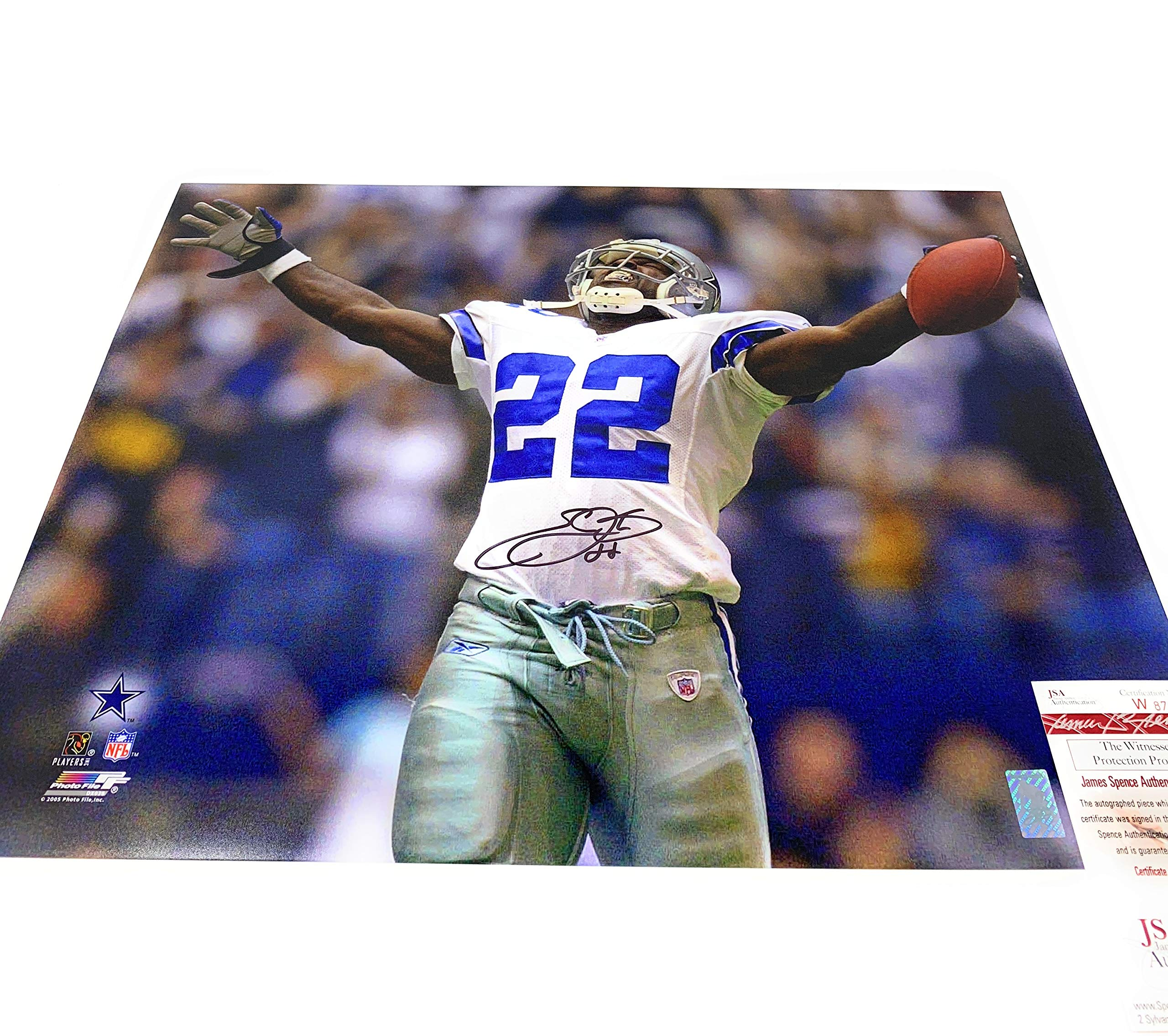 Emmitt Smith Dallas Cowboys Signed Autograph 16x20 Photo Photograph JSA Certified