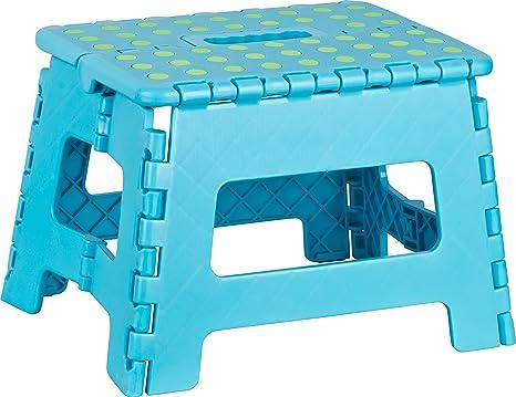 Kigima sgabello pieghevole plastica small cm blu amazon