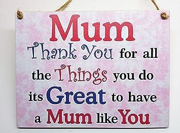 Plaque En Bois Maman Merci Pour Tout Ce Que Vous Faites Son