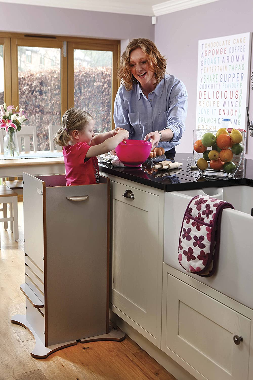 Amazon.com: Little Helper FunPod Kitchen Step Stool Tower with ...