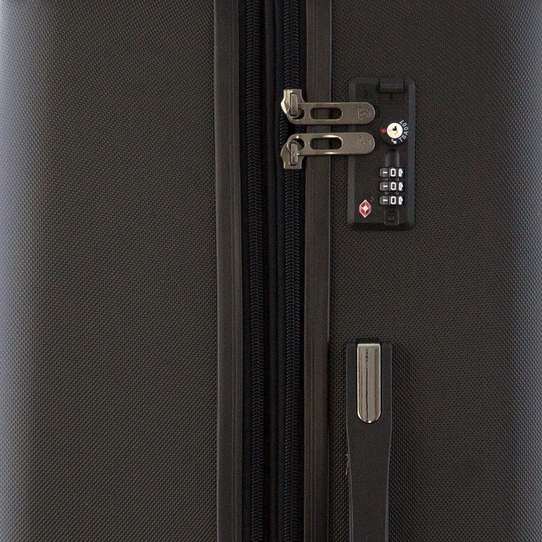 78 liters Argent/é Happy Trolley Lugano Set de bagages Silber 66 cm