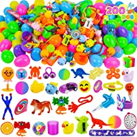 JOYIN 200 PCS Easter Prefilled Eggs with Assorted Toys for Easter Basket Stuffers, Easter Egg Hunt Supplies, Easter Classroom Prizes, Easter Party Favor