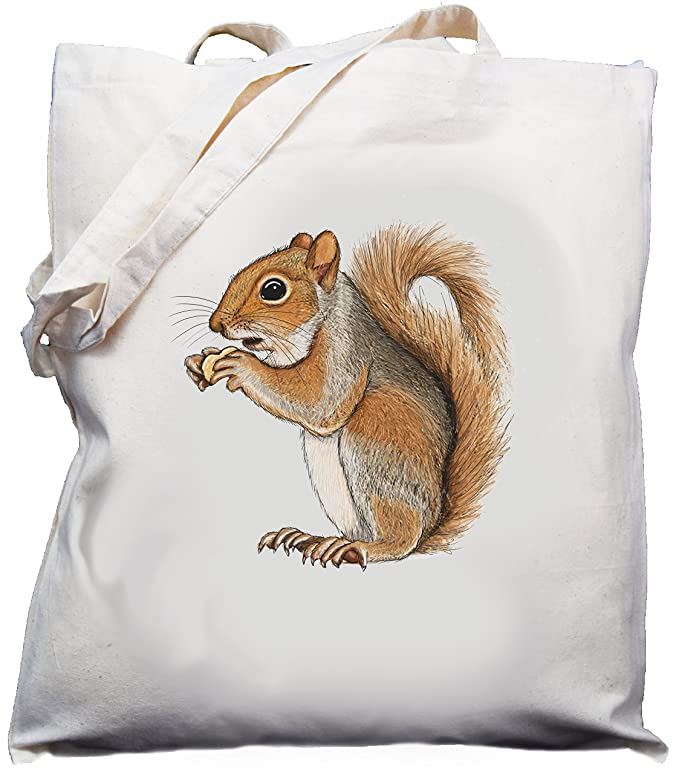 Crazy squirrel lady Tote Shopping Gym Beach Bag 42cm x38cm 10 litres