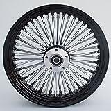 "Black and Chrome Ultima King Spoke 16"" x 3.5"" Rear Wheel for 2000-2006 Harley and Custom"
