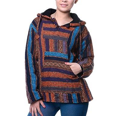 Kunst und Magie Nepal Baja Jerga Sweatshirt Poncho  Amazon.de  Bekleidung e392a03cb1