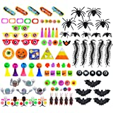 Joyful Toys Halloween Party Favor for Kids 100 Pcs - Goody Bags, Trick-or-Treat, Classroom Rewards, Treasure Box, Carnival Prizes