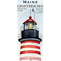 Maine Lighthouses Illustrated Map & Guide