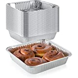 "Pack of 30 Extra-Thick Disposable Aluminum Baking Pans | Standard Size 8"" x 8"" Recyclable Square Cooking Tins 