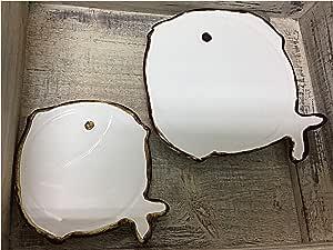 Compra Artigianato locale Set salvamanteles + somoka cafetera bajo Vaso Botella con Forma de pez cerámica Artesanal suspendible en Amazon.es