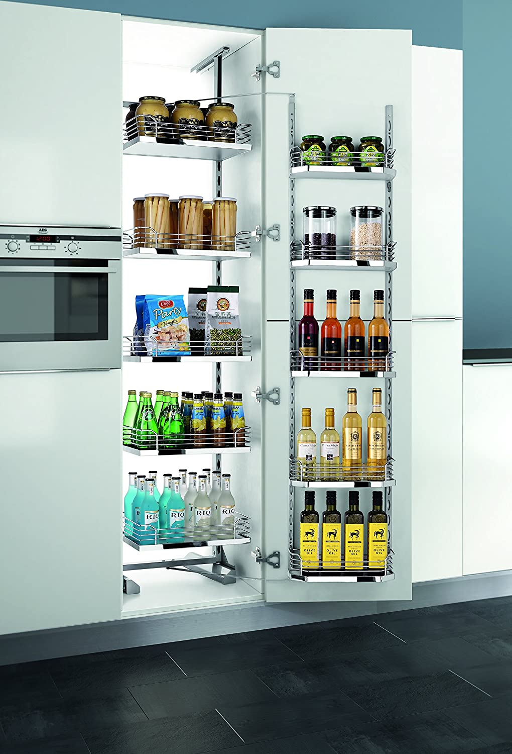Amazon.com: Home Kitchen Tandem Pull Out Pantry from Villè ...