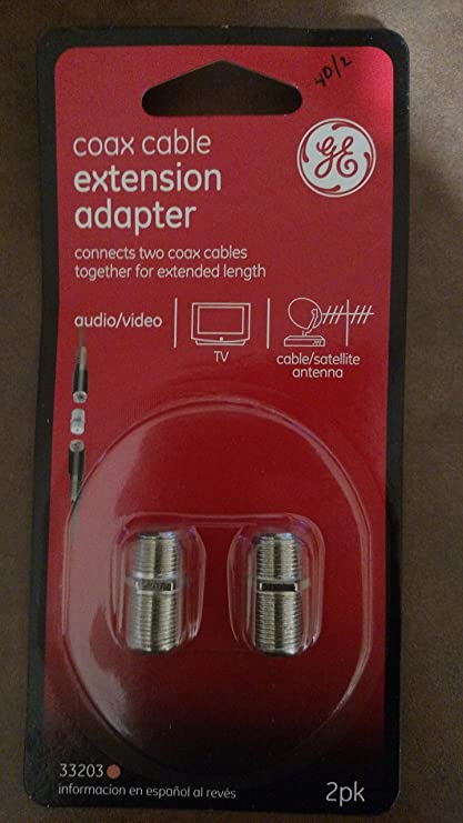 Amazon.com: GE Coax Cable Extension Adapter (2-Pack) - 33203: Home Audio & Theater