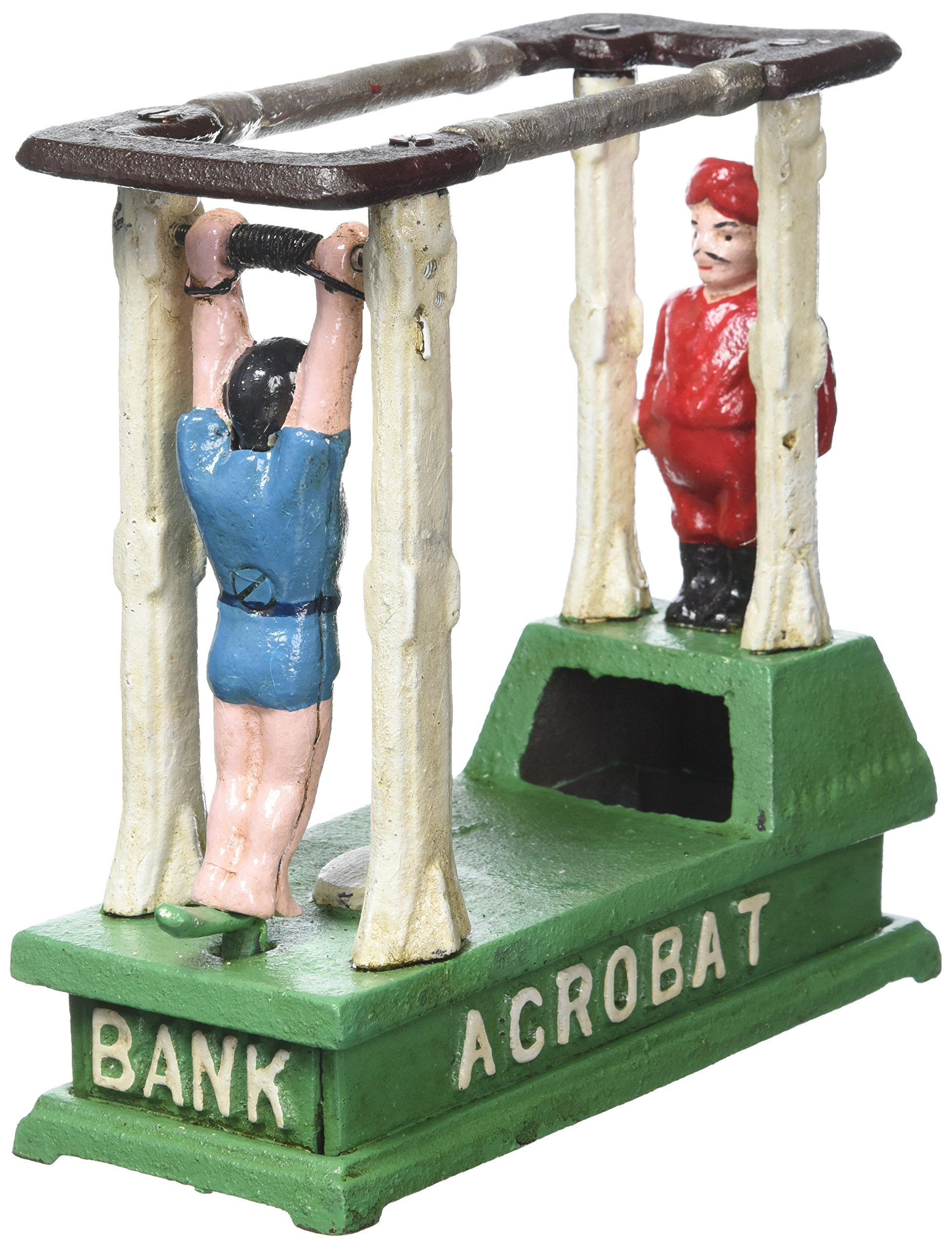 Design Toscano The Acrobat Collectors' Die-Cast Iron Mechanical Coin Bank by Design Toscano (Image #2)