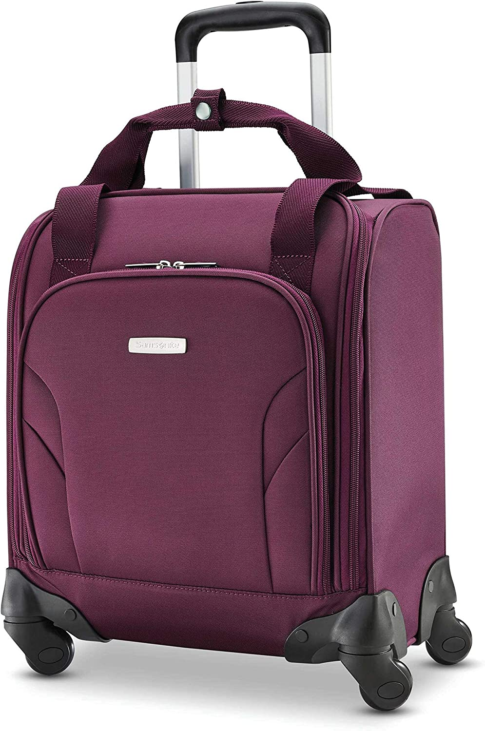 Samsonite Underseat Carry-On Spinner With USB Port, Purple, One Size