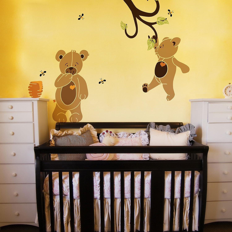Amazon.com: MyWonderfulWalls Teddy Bear Stencil Kit for Teddy Bear ...