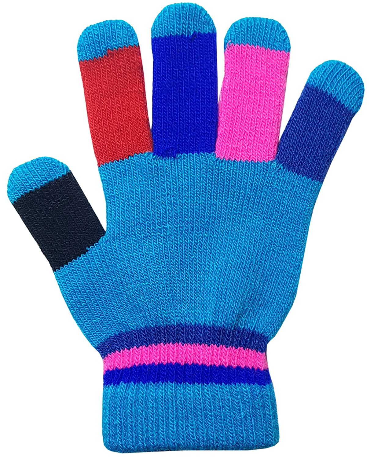 Children's Colourful Rainbow Magic Gloves Winter Warm
