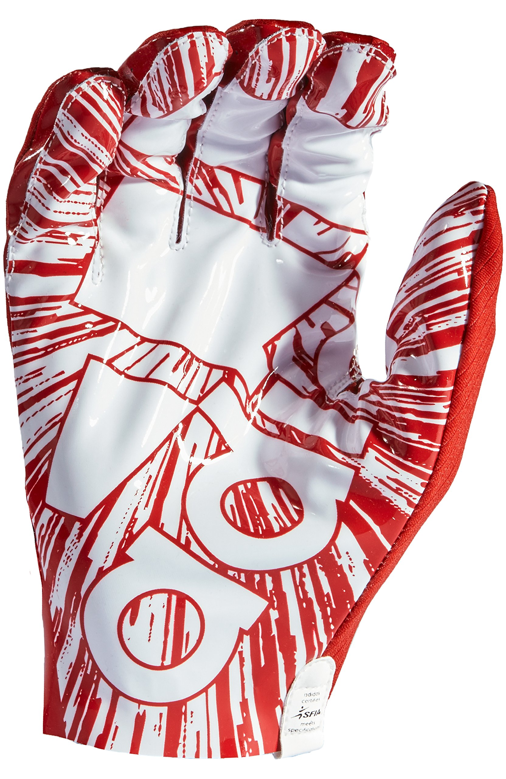 adidas AF1000 Adizero 7.0 Receiver's Gloves, Red, Large by adidas (Image #2)