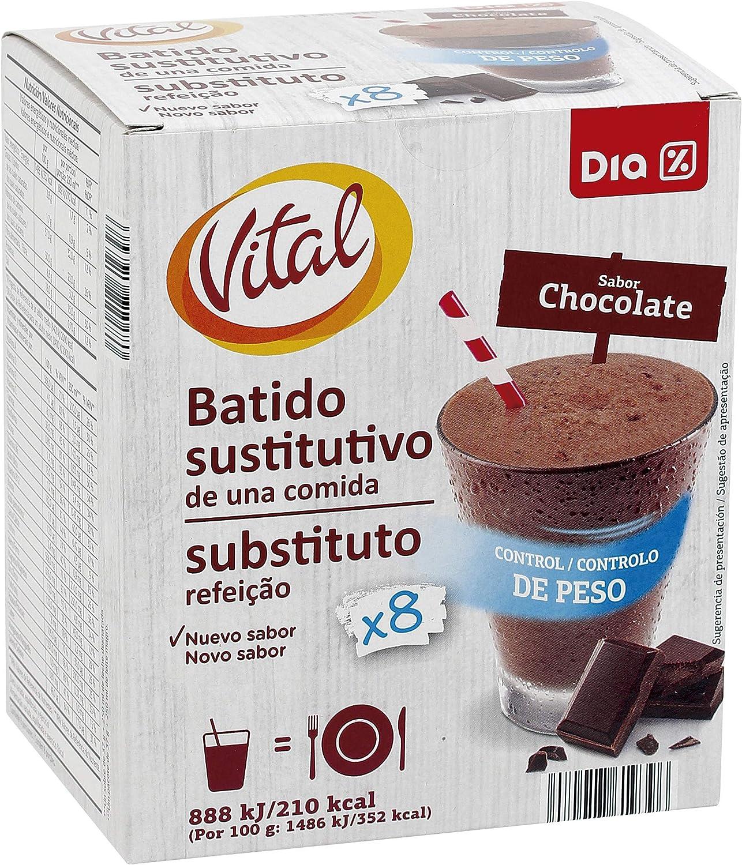 DIA VITAL batido dietético de chocolate caja 8 batidos: Amazon.es ...