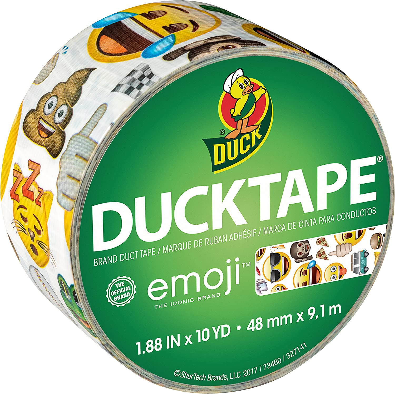Whale of a Time Duck Brand 284169 Printed Duct Tape 1.88 Inches x 10 Yards Single Roll