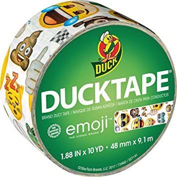 1.88 Inches x 20 Yards 1 ea Pack of 6 Duck Duct Tape Black