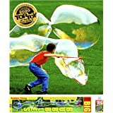 BUBBLETHING Big Bubbles Kit Bubbles Biggest by Far (See Our Videos). Includes Giant Wand, Big Bubble Mix, Fun Games for Kids,