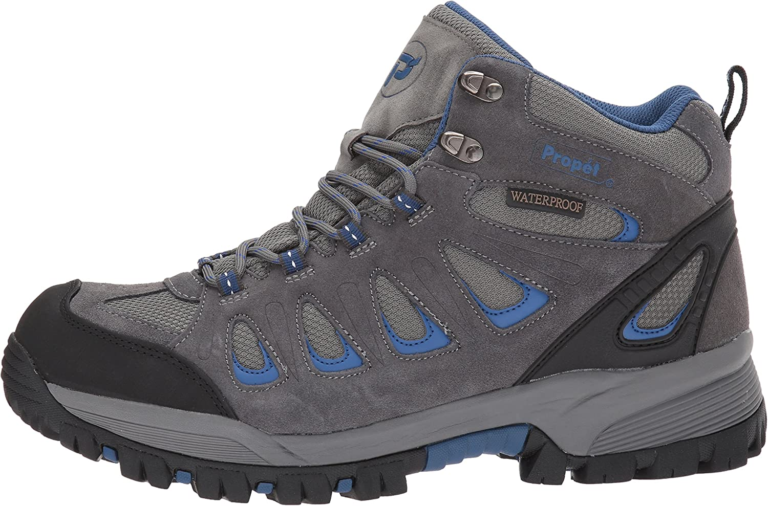 Propet Mens Ridge Walker Hiking Boot 9 XX-Wide Grey//Blue