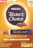 Nescafe Taster's Choice Instant Coffee Hazelnut, 20-Count Sticks, (Pack Of 2)
