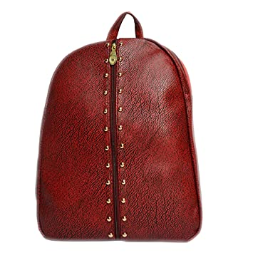 daabf4634 NIKKI ENTERPRISES Fashion School Leather Backpack Shoulder Bag Mini Backpack  for Women & Girls (Black, Cherry, Black Shade Cherry) Three Colour only: ...