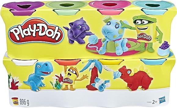 Play Doh Pack de 8 botes, multicolor (Hasbro C3899EU4) , color ...