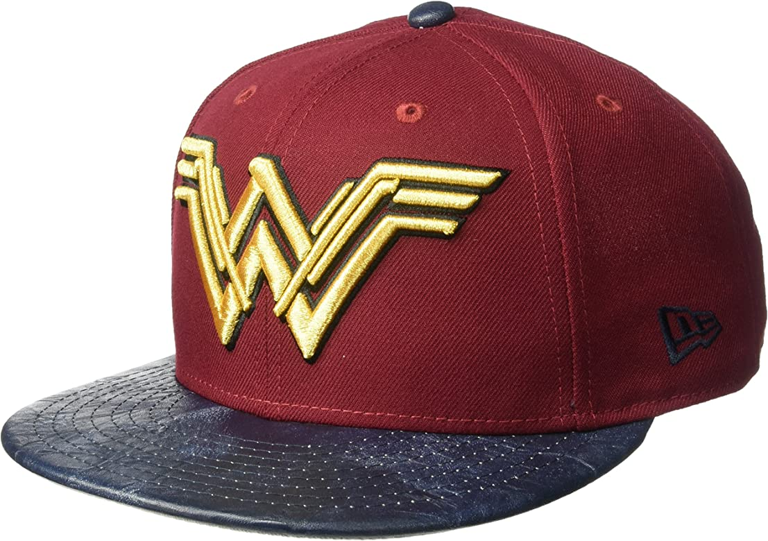 bb5db6ae New Era Cap Men's Justice League Wonder Woman 9FIFTY Snapback Cap, red, One  Size