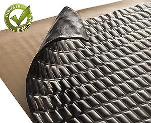 Siless Black 80 mil 36 sqft Sound Deadening mat | Sound Deadener Mat | Car Sound Dampening Material | Sound dampener | Sound deadening Material Sound Insulation | Car Sound deadening