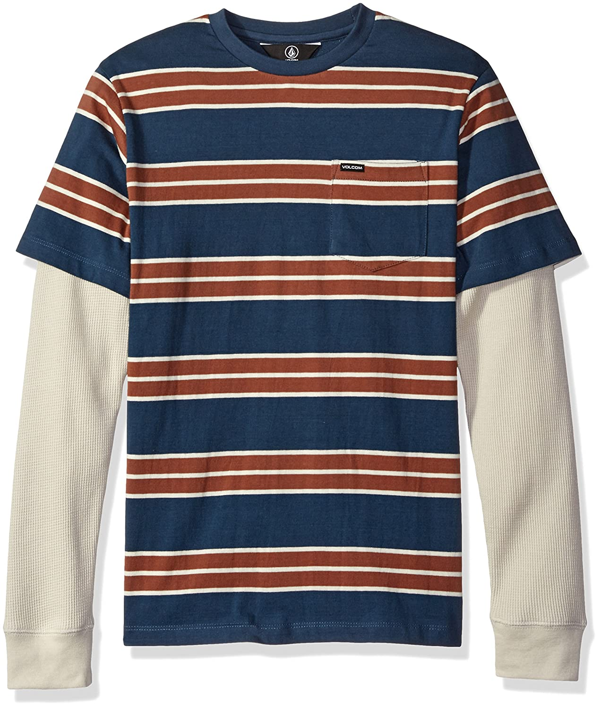 Volcom Boys Big Boys Pacific Crew Long Sleeve Shirt Youth ...