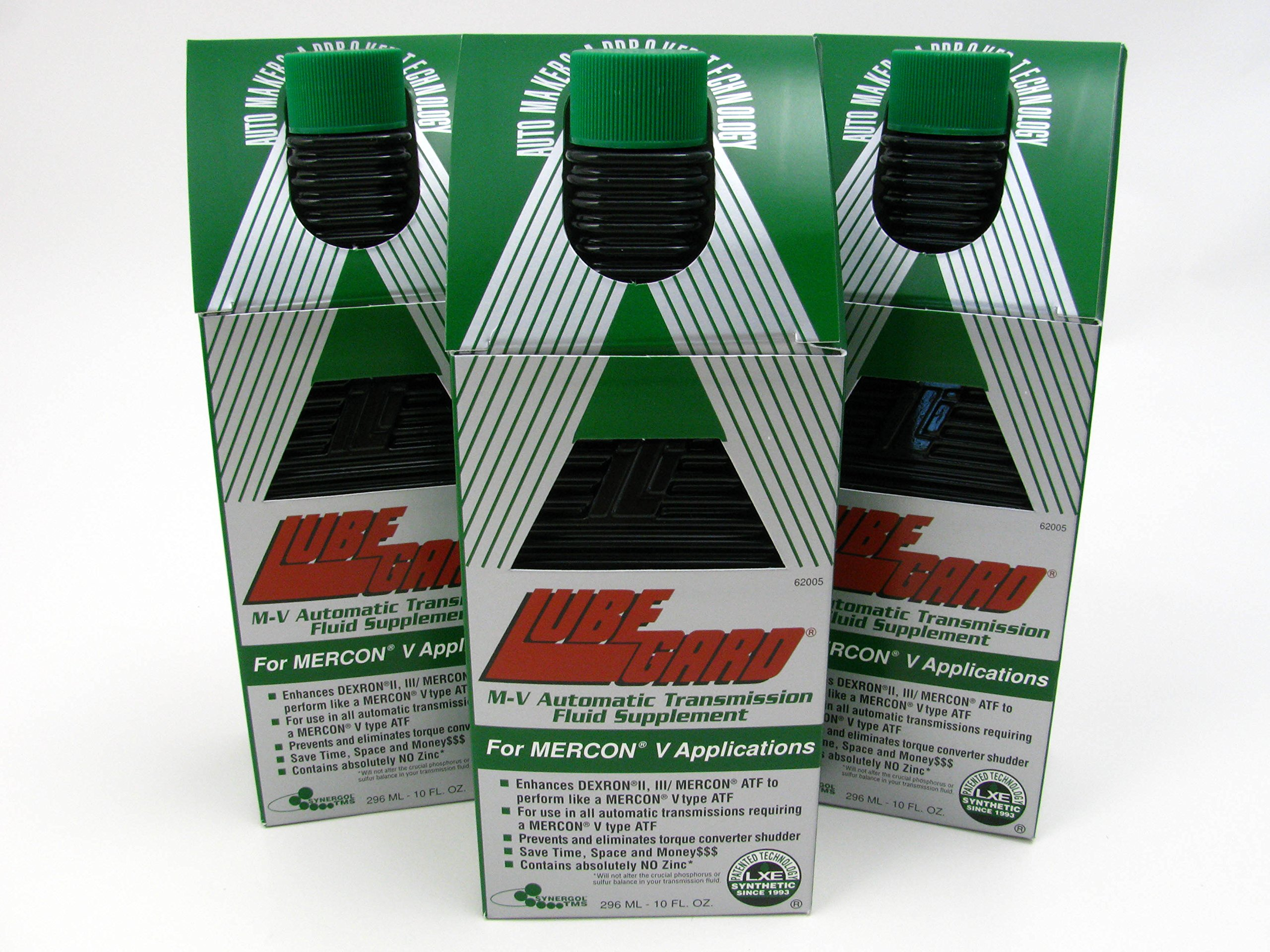 LUBEGARD M-V Automatic Transmission Oil Fluid Supplement Mercon-V Synthetic ATF 3 pack