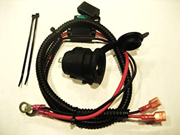 91DjvIkAxDL._SX355_ amazon com motorcycle boat snowmobile bike 12 volt 12v power 12 volt wire harness at webbmarketing.co