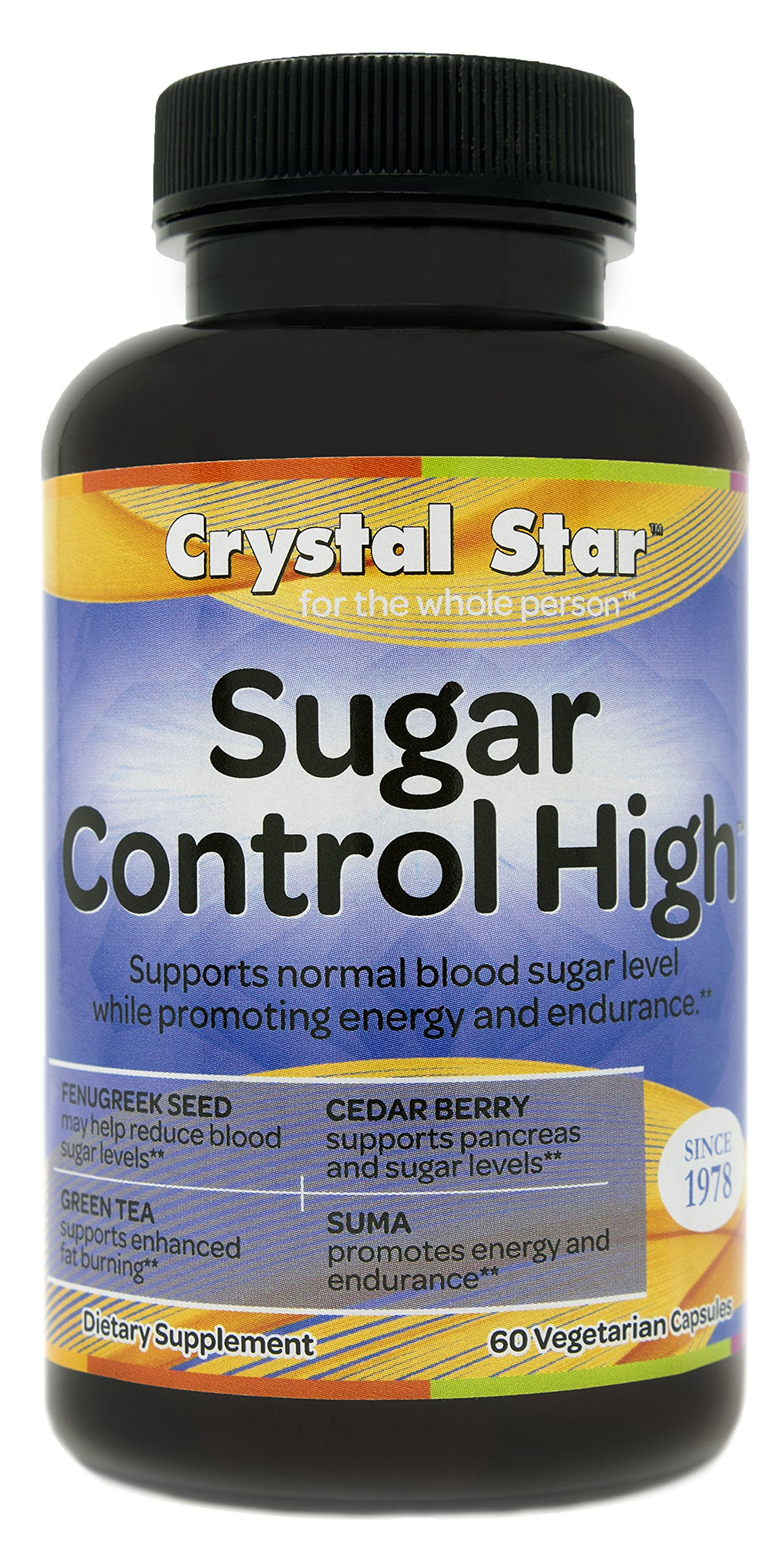 Crystal Star Sugar Control High Supplement, 60 Count