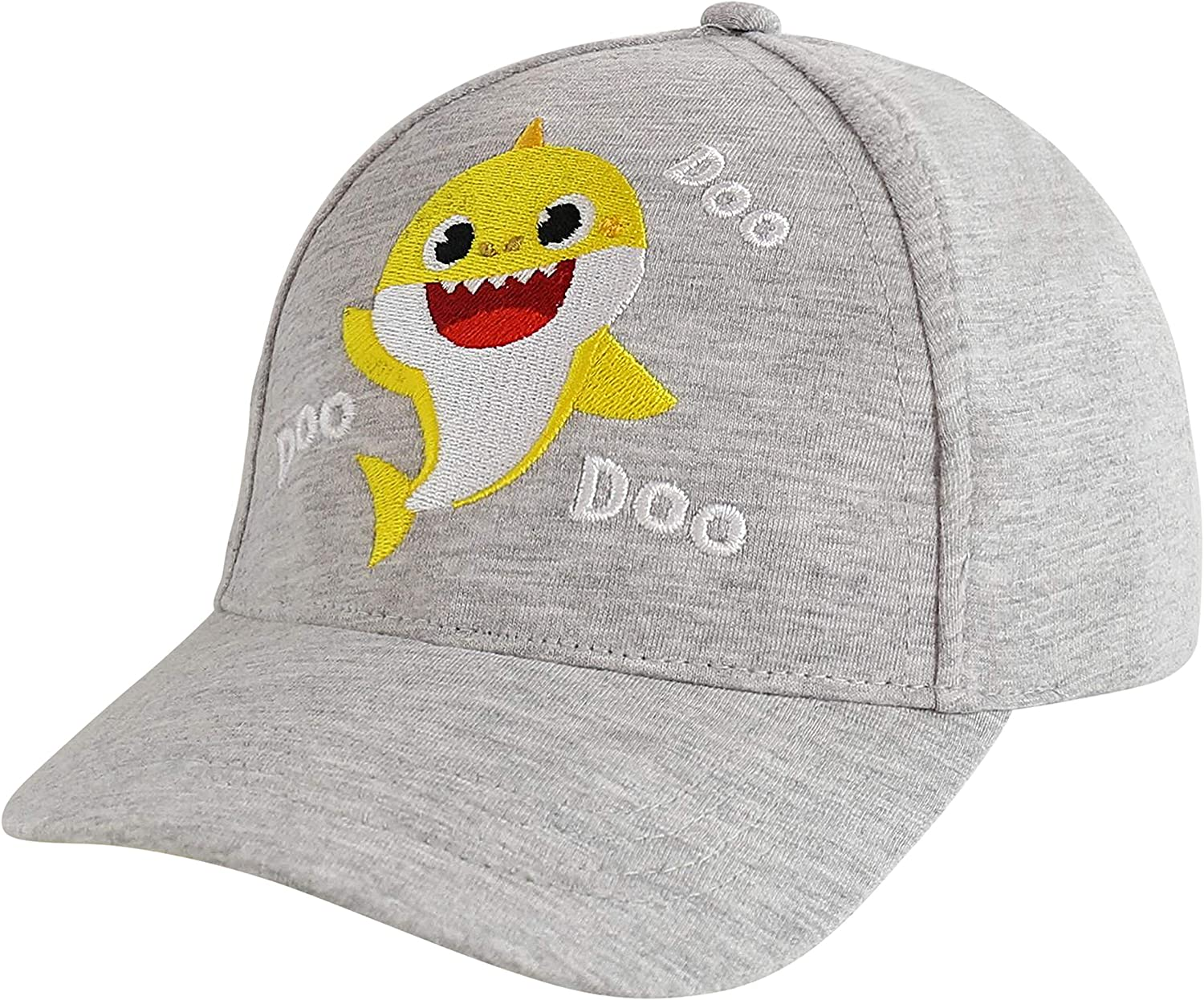 Pinkfong Cap, Baby Shark Baseball Hat for Ages, Grey, Toddler Kids Age 2-4