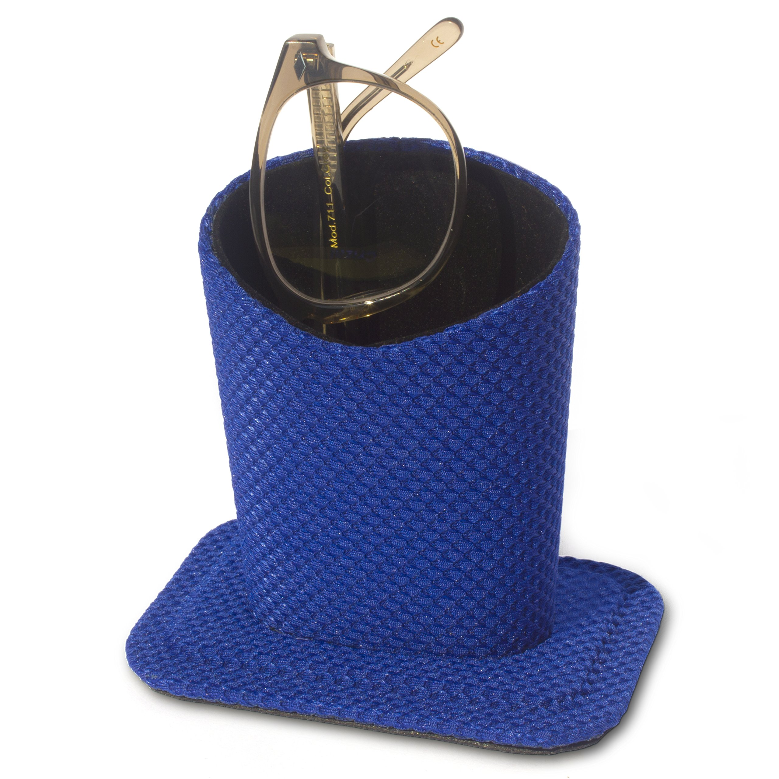 Holdie Eyeglass Holder - NO Plush NO Smudge - Never Lose Your Glasses Again - Protect Your Expensive Eyeglasses - Modern Stand Design for All Ages - 100% Money-Back Guarantee [Cobalt Blue]