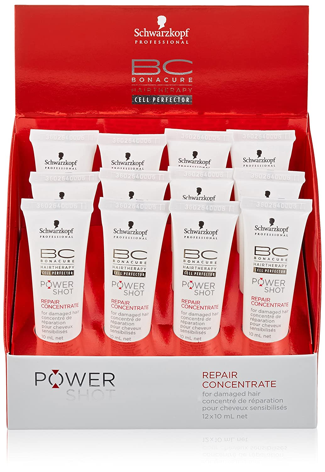 Schwarzkopf Bonacure Power Shot Repair Concentrate 12x 10 ml, 1er Pack, (1x 0,12 L) Schwarzkopf Professional 10369