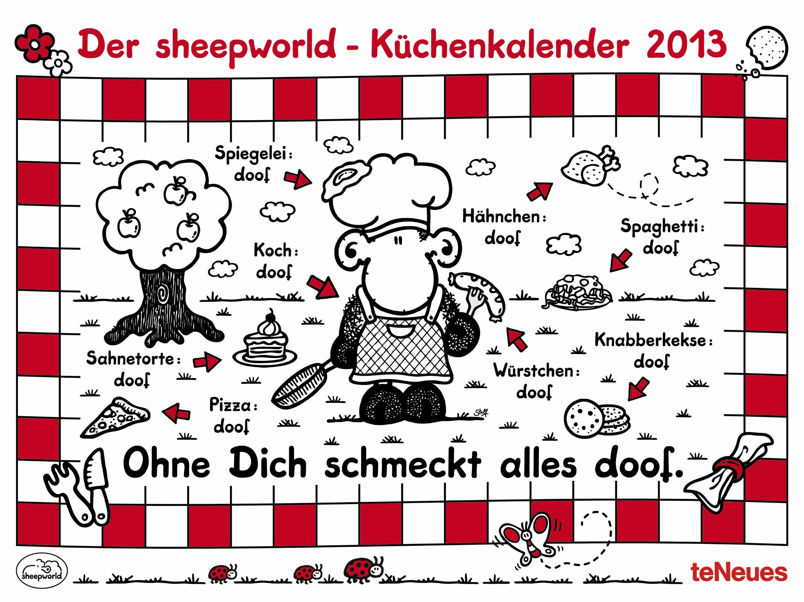 Der sheepworld Küchenkalender 2013