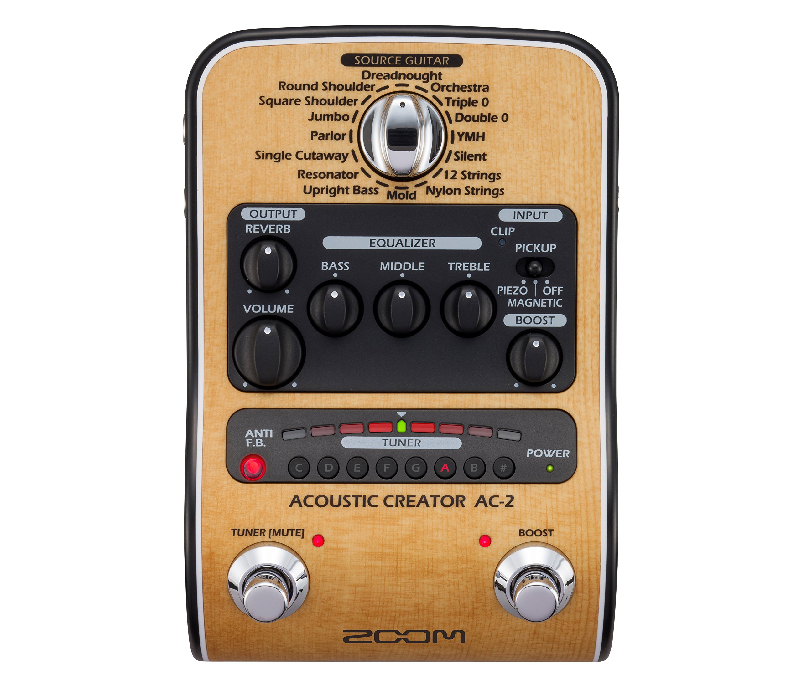Zoom AC-2 Acoustic Guitar Effect Pedal