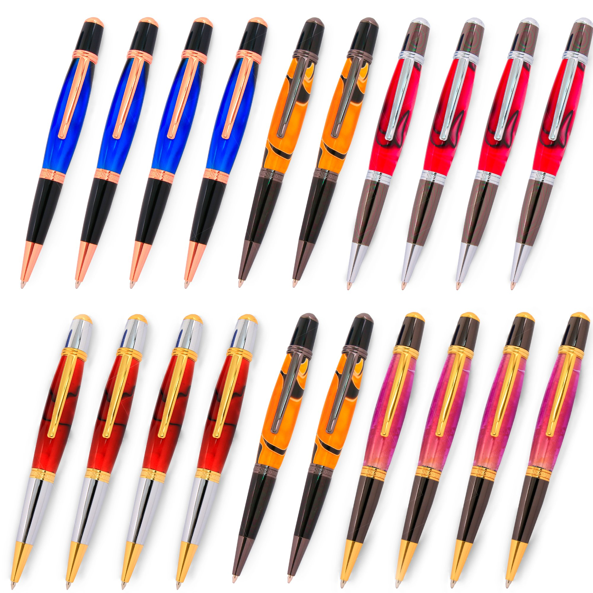 Legacy Woodturning, Viceroy Pen Kit, Many Finishes, Multi-Packs