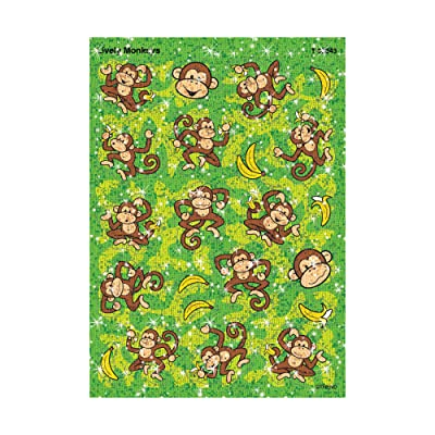Trend Enterprises Inc. Lively Monkeys Sparkle Stickers-Large, 44 ct: Toys & Games