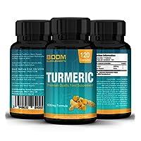 Kurkuma Kapseln Hochdosiert 1 Kapsel Täglich 600 mg Maximaler Stärke | 120 Kurkuma-Kapseln | 4 GANZE Monate Vorrat | Abnehmen, Anti-Entzündlich & Natürliches Antioxidans | Mächtige Curcumin Absorbierung