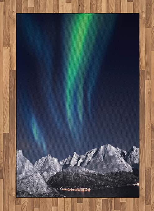 Amazon.com: Cielo alfombra de área por Ambesonne, Aurora ...